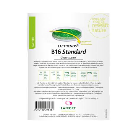 b 16 standard Bakterije za proizvodnju vina laffort kokot agro hrvatska